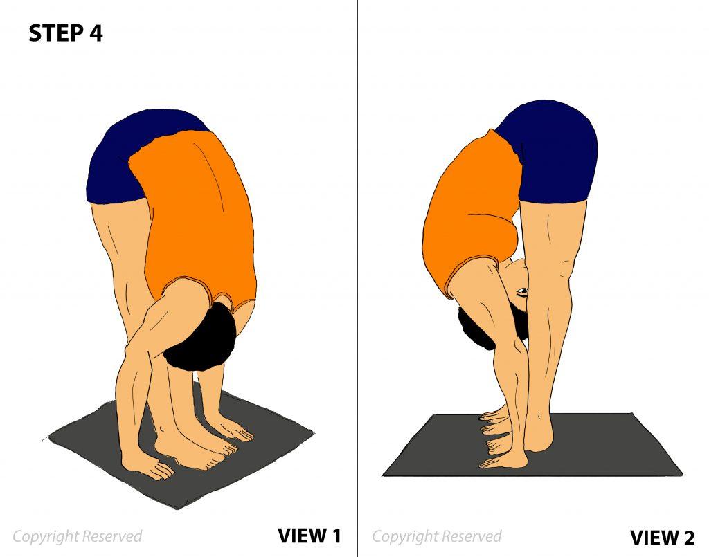 padahastasana step-4
