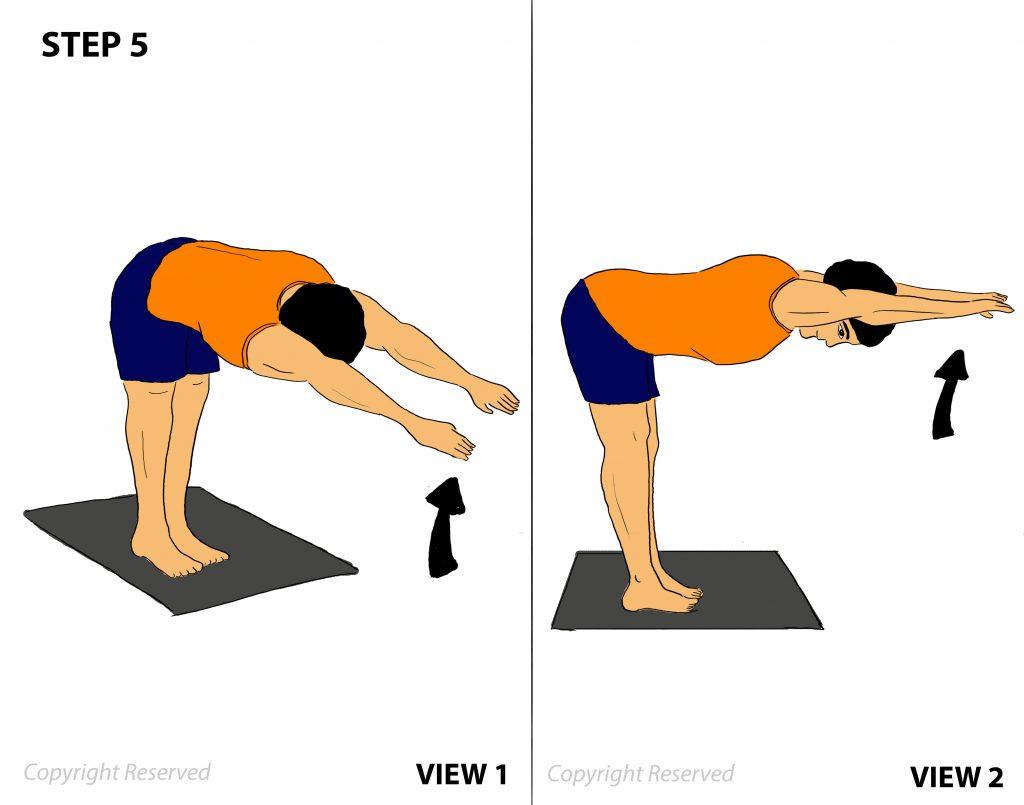 padahastasana step-5