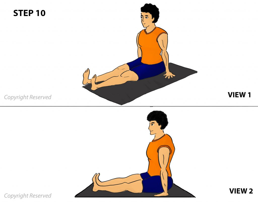 Janu sirsasana step 10