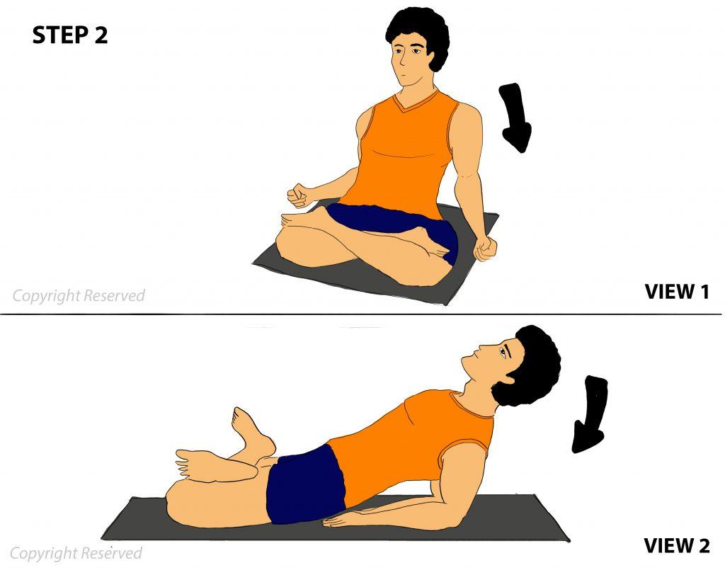 Matsyasana step 2