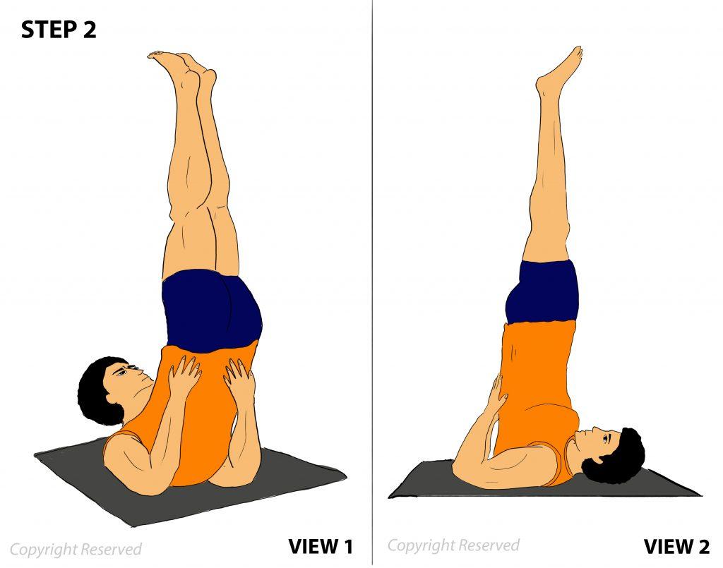 sarvangasana step 2