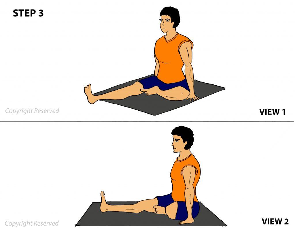 janushirsasana step 3