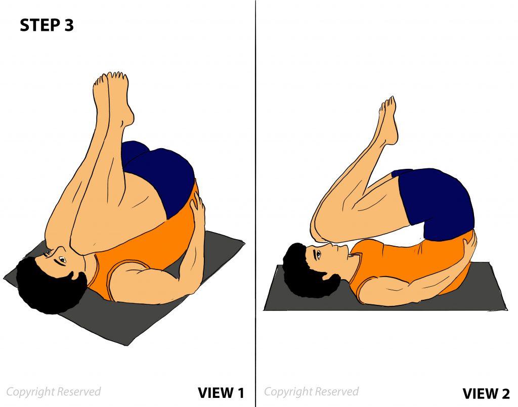 sarvangasana step 3