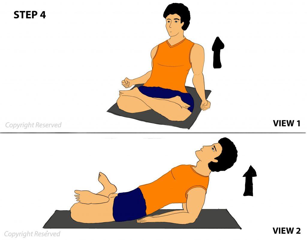 Matsyasana step 4