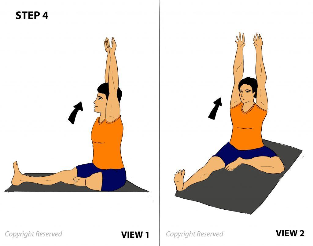janushirsasana step 4