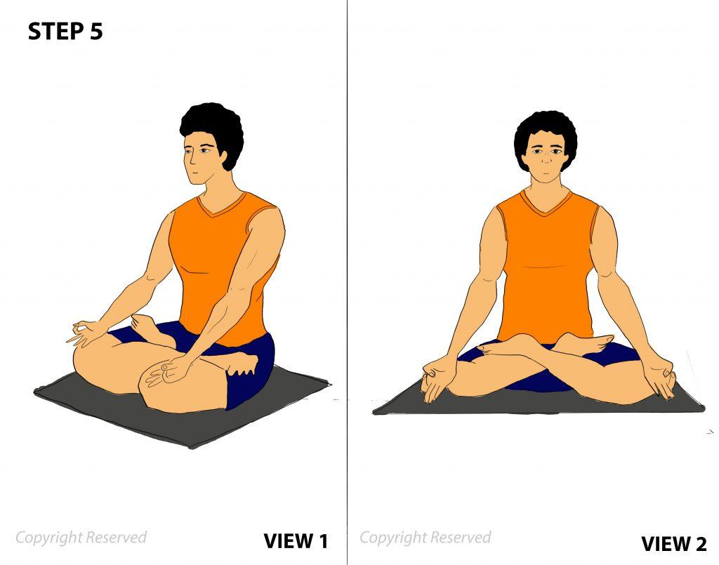 Matsyasana step 5