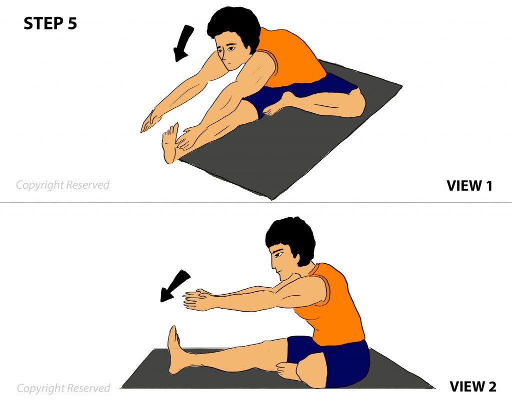 janushirsasana step 5