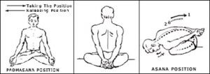 Steps of Yoga Mudra Asana