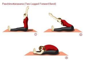 paschimottanasana steps steps and benefits  101yogasan
