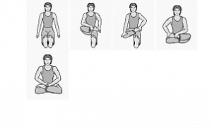 Step images of Padmasana
