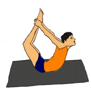 dhanurasana yoga benefits steps bow pose  101yogasan