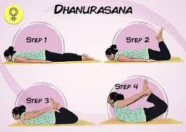 Step images of Dhanurasana